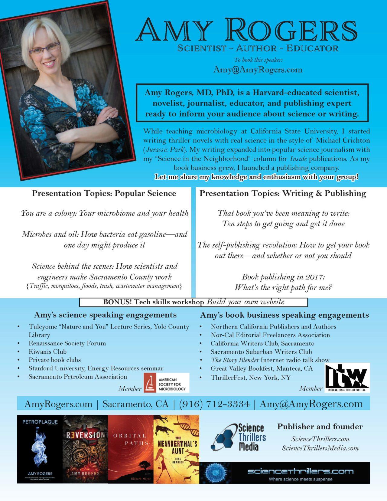 Amy Rogers speaker sheet